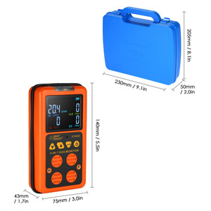 Image 4 - 4 in 1 Dijital LCD Gaz Dedektörü O2 H2S CO LEL Monitör Gaz Analizörü hava kalitesi Izleme Gaz Test Cihazı Karbon monoksit Metre
