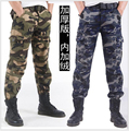 Free Shipping 2015 New Men Fashion High-Grade Pure Cotton And Wool Warm Winter  Camouflage More Pocket The Man Overalls