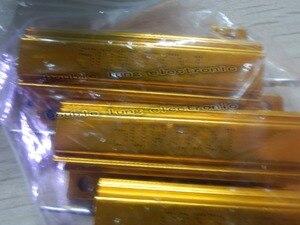 Image 4 - 50 ชิ้น/ล็อต 50 วัตต์ Metal Shell อลูมิเนียมทองตัวต้านทาน RX24 50 W 1R 2R 3R 4R 5R 6R 8R 10R 15R 50R 100R 220R 1 K OHM