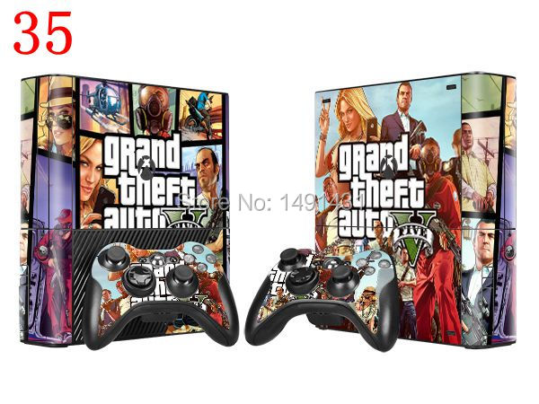 OSTSTICKER Vinyl Skin Sticker For Xbox 360E Console + 2 pcs Controllers Decal