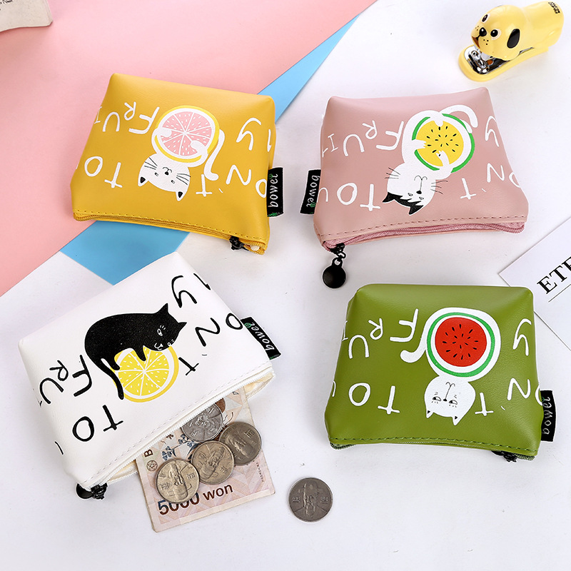 New Small Cat Coin Purse Cute Kids Cartoon Wallet Kawaii Bag Coin Pouch Children Purse Holder Women Coin Wallet Bags