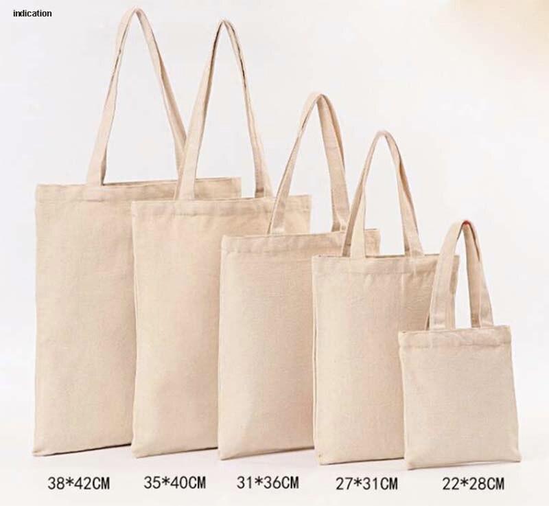 100ピースサイズ20センチ* 22センチキャンバスコットントートバッグカスタマイズされたロゴファッション女性エコバッグ用会社広告大学活動トートバッグ