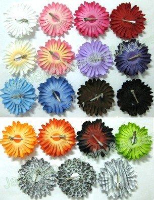 """200 шт """" заколки для волос с ромашками Гербера Сменные заколки для волос с цветами/цветочные аксессуары для волос/цветы для волос"""