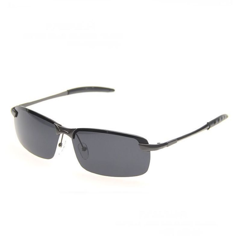 78d2df5a2a Vintage Rimless Sunglasses For Men Metal Titanium Temple Polarized Rectangle  Lens Mens Cheap Designer Framless Glasses Online