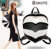 sikote Male and female high-end PU backpack. Fashion cool beetle modeling backpack.