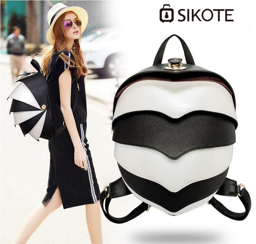 sikote Male and female high-end PU backpack. Fashion cool beetle modeling backpack. high tech and fashion electric product shell plastic mold