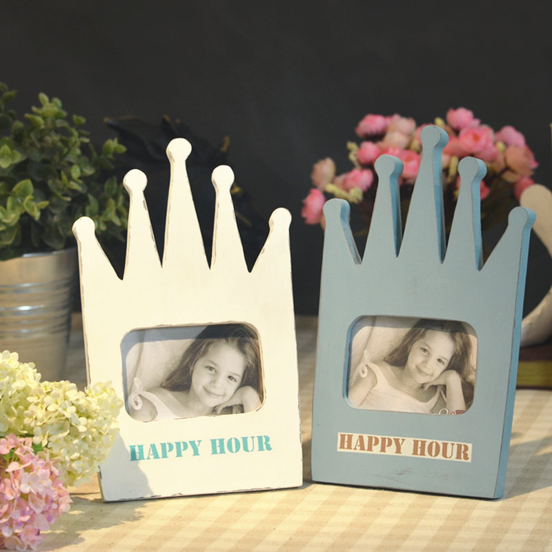 <font><b>Scandinavian</b></font> children crown frame resin crafts ornaments creative gifts of American-style model room <font><b>decorative</b></font> <font><b>home</b></font> accessories