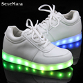 Homens Cesta Led Light Up Shoes Mens Sapatos Amantes Schoenen Casuais Unisex Homme Femme Chaussures Luminosa Led Lumineuse Para Adultos