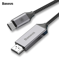 Baseus USB C to HDMI Cable Type C to HDMI Adapter For Macbook Samsung Galaxy S9 S8 Huawei Mate 10 Projector HDMI to Type C Cable