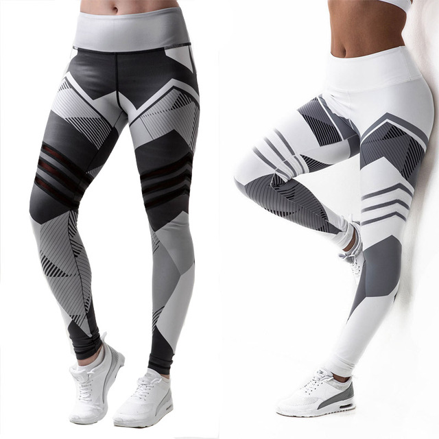 High Waist Fitness Leggings 3D Digital Printed Women Push Up Pants Gothic Jeggings Legins Slim Workout Leggings Leggins ...