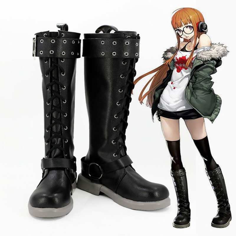 Persona 5 Cosplay shoes Futaba Sakura Cosplay Boots  Japanese Anime Handmade Shoes Custom-made European Size