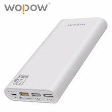Оптовая продажа Wopow Быстрый Зарядное устройство 3.0 P20Q 20000 мАч Power Bank 12 Вт три зарядка через USB порт Портативный Зарядное устройство Внешний Батарея