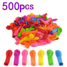 Outdoor Toys For Children 500Pcs No.3 Water Balloons Toys Fight Games for Beach Party - Color Random(China)