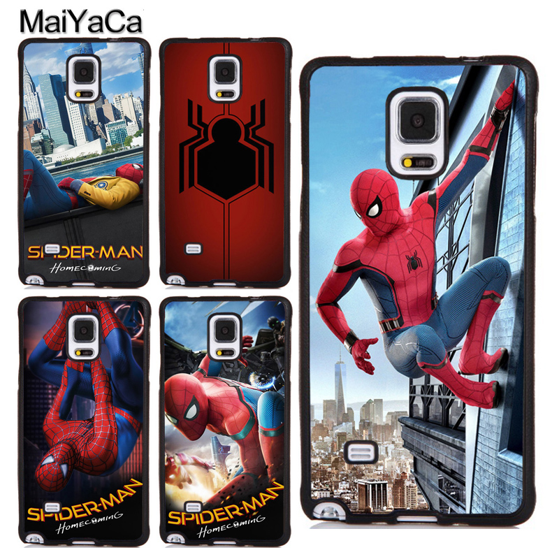 MaiYaCa Marvel Comic Spiderman Homecoming Soft TPU Case For Samsung S4 S5 S6 S7 edge S8 S9 Plus Note 4 5 8 Back Cover Shell Skin