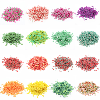 200Pcs Slime Addition Soft Fimo Fruit Slices for Charms Beads DIY Nail Mobile Beauty Powder in Slime Supplies Sprinkles 1
