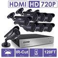 Sistema de cctv 8ch 1080 p dvr 8 pcs 1500tvl zosi ir à prova de intempéries de vigilância de vídeo ao ar livre 8ch sistema de câmera de segurança em casa kit dvr