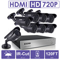 ZOSI 8CH CCTV System 1080P DVR 8PCS 1500TVL IR Weatherproof Outdoor Video Surveillance Home Security Camera System 8CH DVR Kit