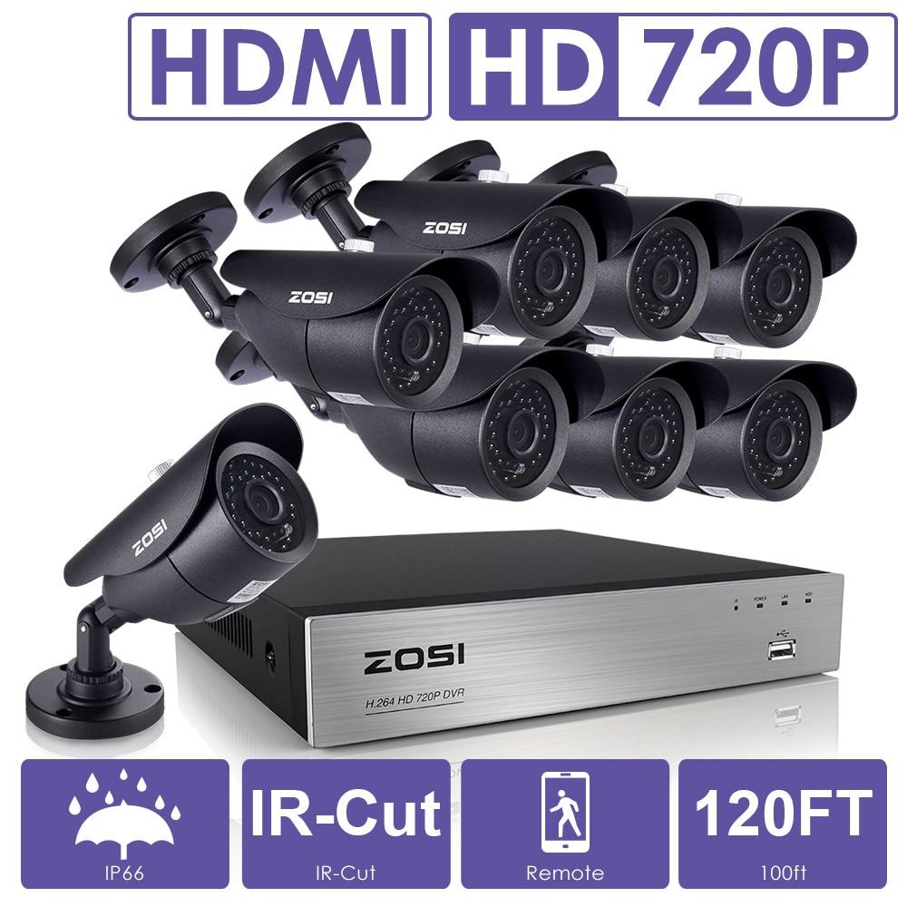 bilder für Zosi 8ch cctv system 1080 p dvr 8 stücke 1500tvl ir wetterfeste videoüberwachung home security camera system 8ch dvr kit