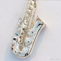 New High Quality Saxophone 803 Silver E Flat Alto Saxophone Promotion Silvered Instrumental Performances Case And