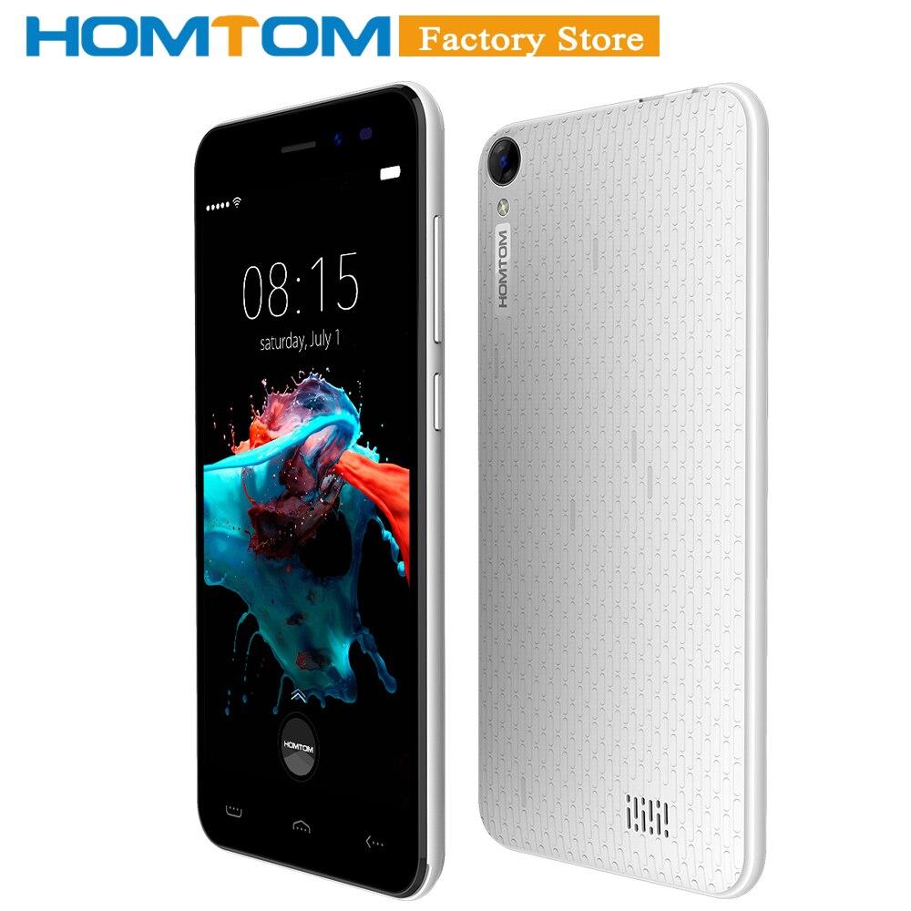 """Оригинальный HOMTOM HT16 смартфон 3g WCDMA Android 6,0 4 ядра MTK6580 5,0 """"Экран 1 ГБ Оперативная память 8 ГБ Встроенная память двойной камеры мобильного телефона"""