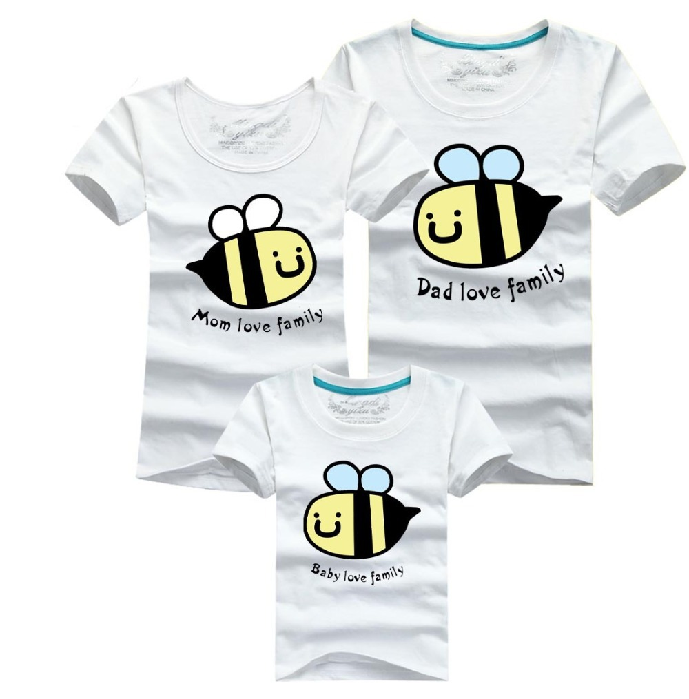 69b4c5d7 Mom Dad Baby Love Family T shirt Family Matching Outfits Cartoon Bee Mother Daughter  Father Son Clothes Family Clothing on Aliexpress.com | Alibaba Group