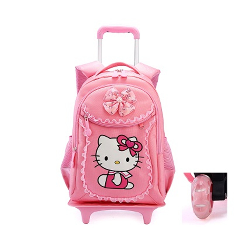 c38faba43254 Hello Kitty Children School Bags Mochilas Kids Backpacks With Wheel Trolley  Luggage For Girls backpack Mochila Infantil Bolsas-in School Bags from  Luggage ...
