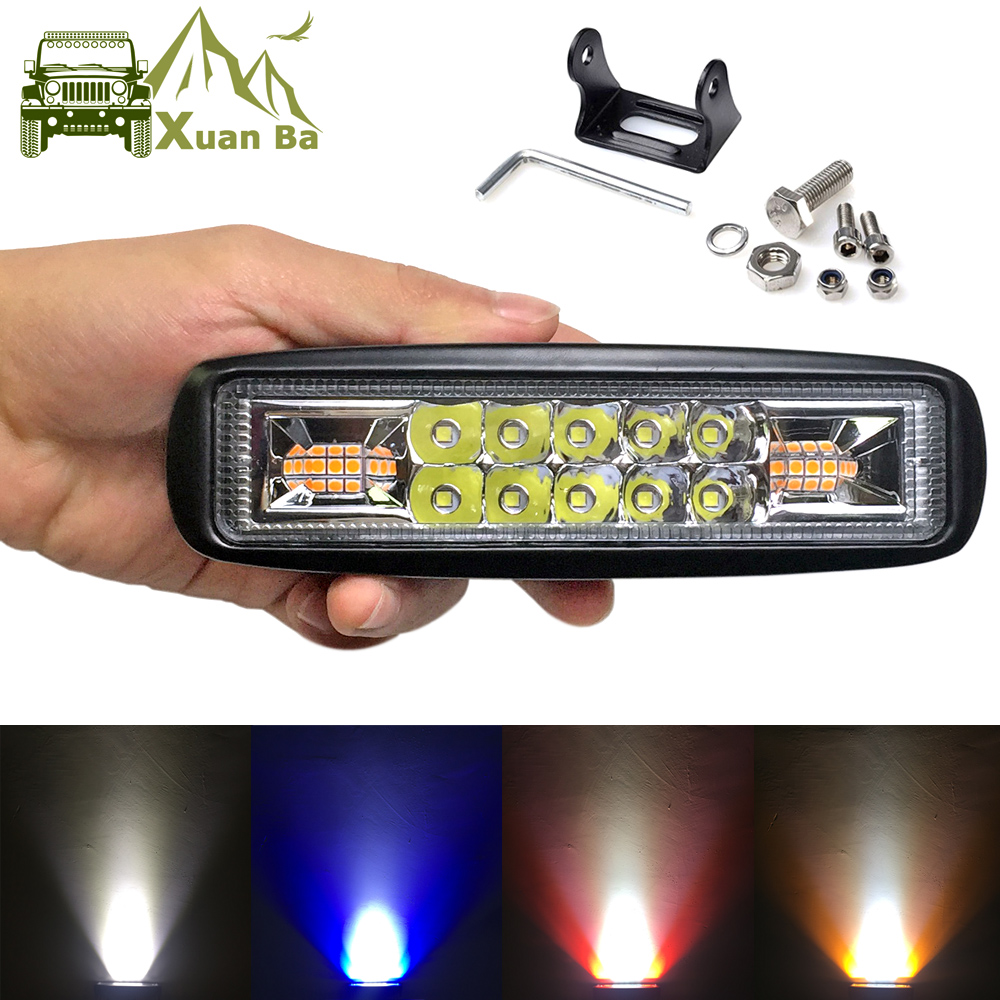 6 inch Super Slim Mini Led Bar Work Light For Motorcycle 4x4 Offroad Car DRL Signal Lamp External Warning Daytime Running Lights-in Light Bar/Work Light from Automobiles & Motorcycles