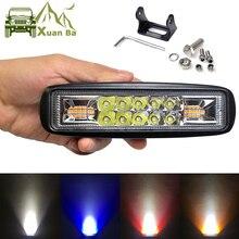 Mini barra de luz de trabajo Led superfino de 6 pulgadas para motocicleta, lámpara de señal DRL para coche 4x4 todoterreno, luces de circulación diurna de advertencia externa