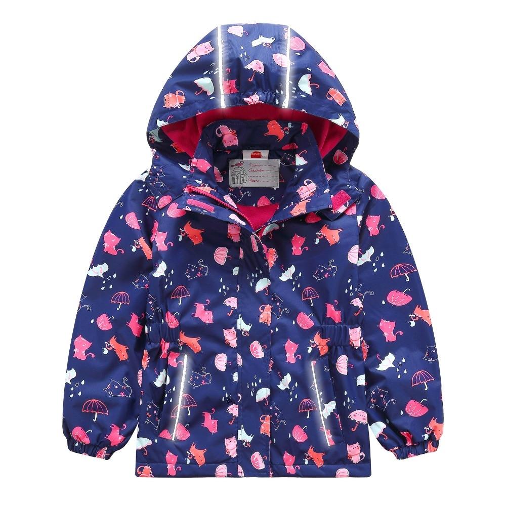 Waterproof Windproof Baby Girls Jackets Child Coat Children Outerwear Warm Polar Fleece For 3-12 T Spring Autumn