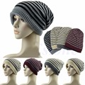Stripes Knitted Hats 2015 New Autumn Winter Cap Fashion Men Women Beanie Gorros Toucas 4 Colors for Choose