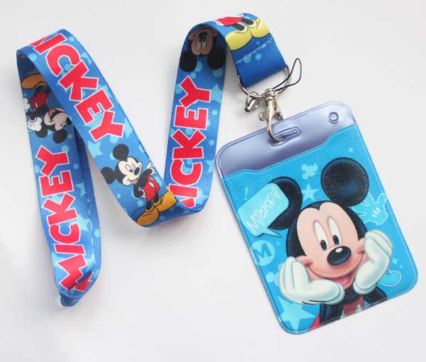10pcs Popular cartoon Neck Strap Lanyard Key chain Phone Card Badge Holder