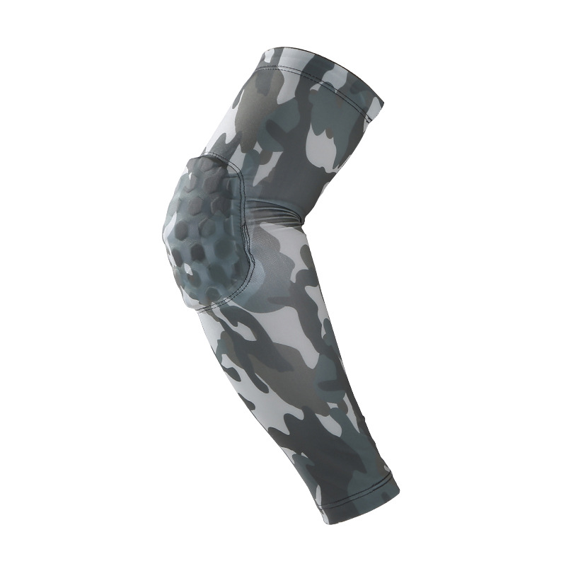 United Sports Elbow Basketball Badminton Honeycomb Camouflage Arm Breathable Crash Sports Gear Volleyball Wrist Sleeve Aesthetic Appearance Braces & Supports Personal Health Care