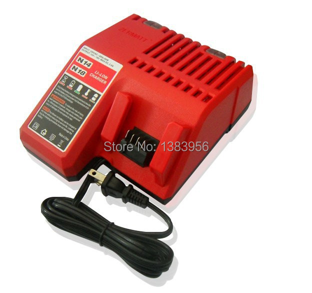 Replacement Milwaukee 18V Lithium Power Tool Charger For Battery 48 11 1815 48 11 1828 And