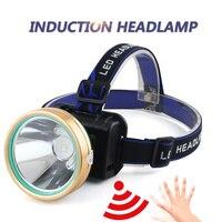 QINLE 18650 Headlamp Induction Body Sensor USB Rechargeable Outdoor Headlight LED High Light Lantern Waterproof Torch Flashlight