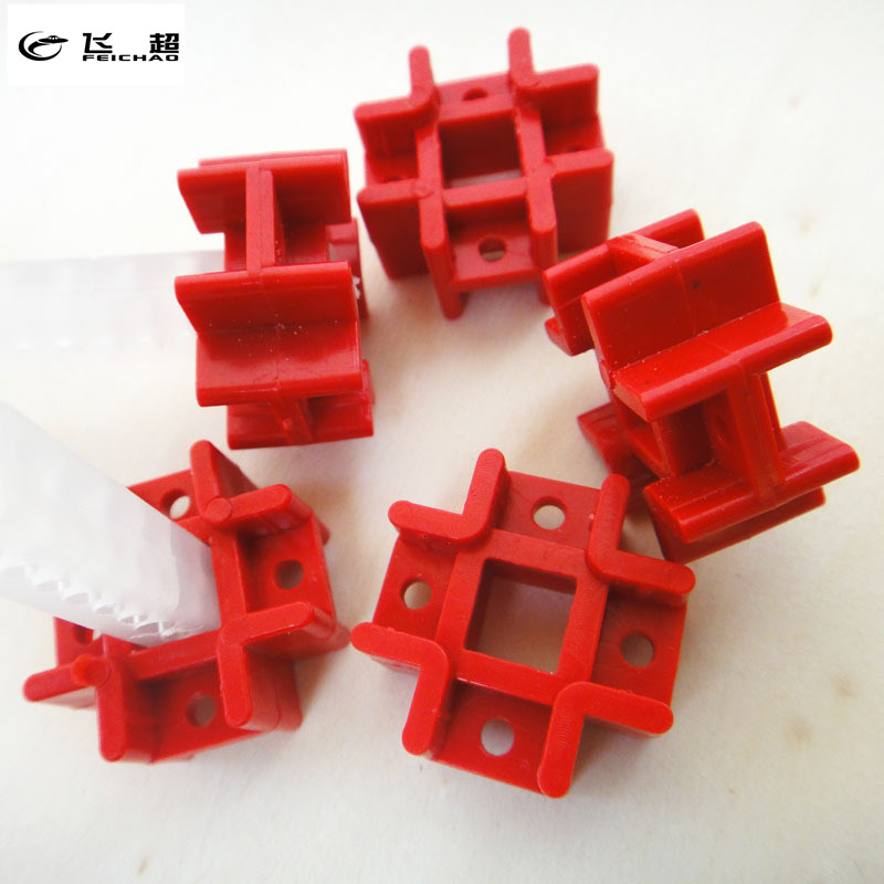 Feichao 5Pcs Red Education Toy Tic Tac Connector Fastener Cross Holder DIY Create Assembly Toy Spare Parts