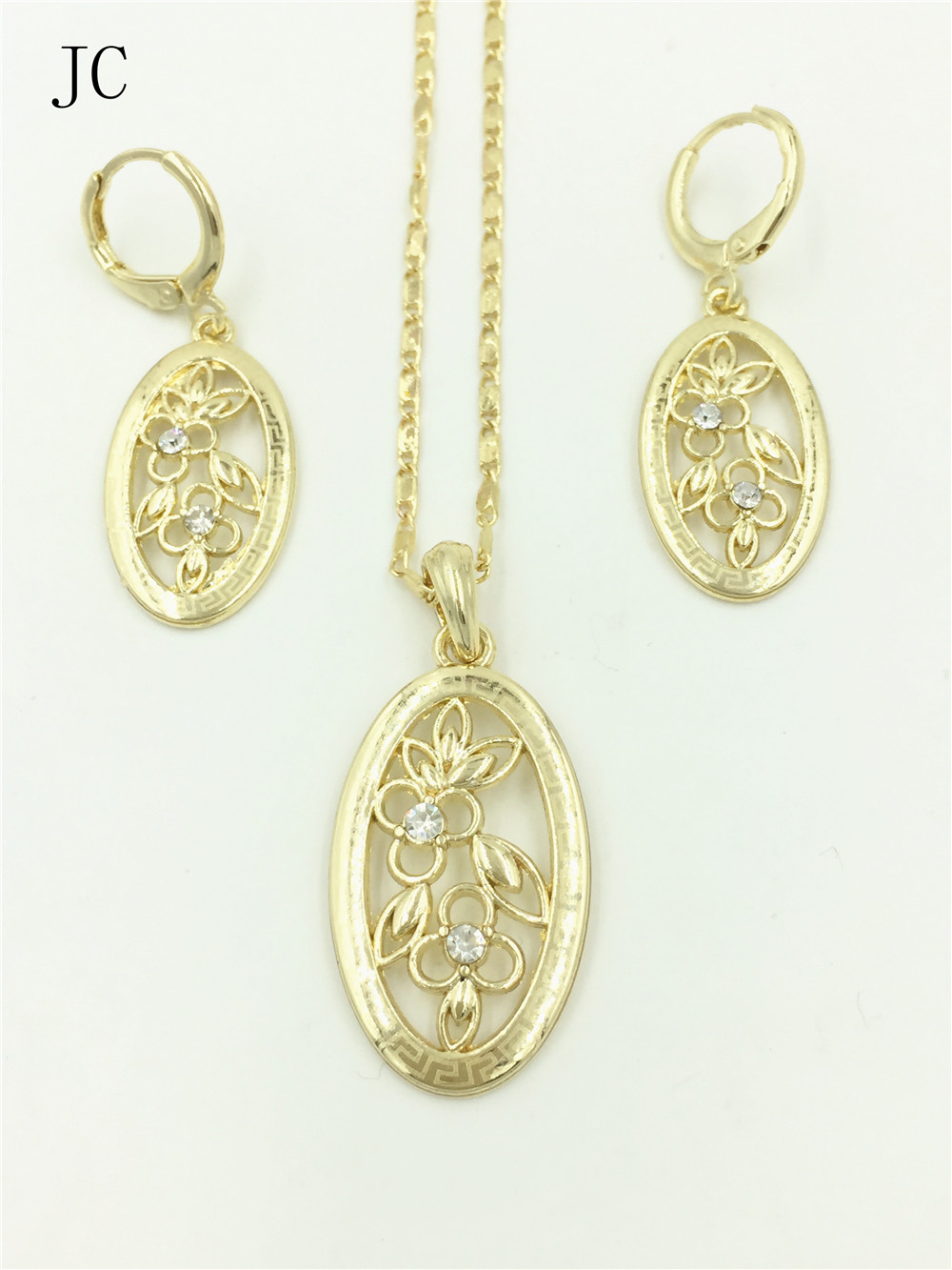 dubai gold plated jewelry set 2016 new dubai