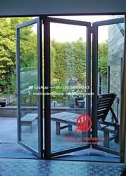 Индивидуальный двойной глазурованный Австралийский Стандартный алюминий рамка Би-створчатая дверь балкон Складная Дверь, наружные патио