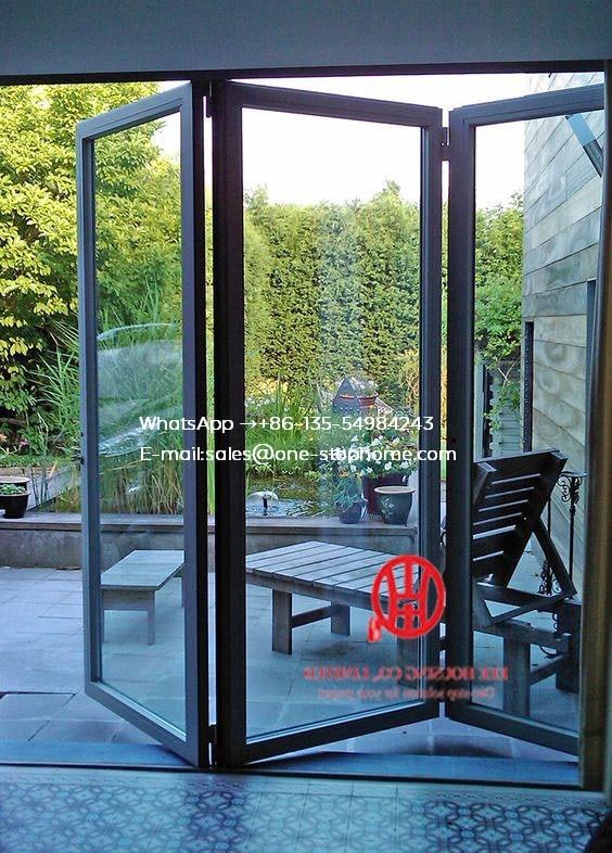 Customized Double Glazed Australian Standard Aluminum Frame Bi-Fold Door Balcony Folding Door,Exterior Patio Bi Fold Doors