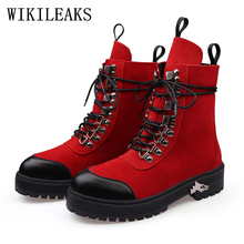 genuine leather boots women botines mujer bota motociclista designer shoes woman ankle boots for women luxury brand martin boots