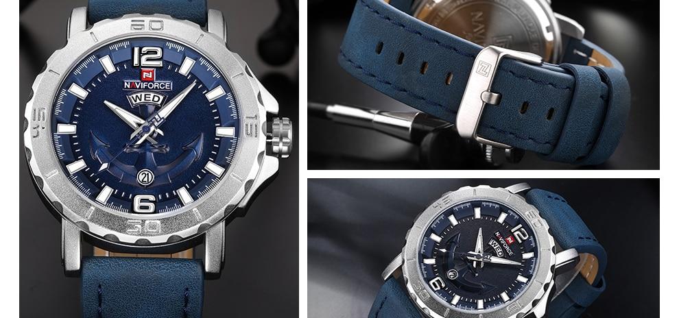 HTB1Q4a2lTXYBeNkHFrdq6AiuVXa7 NAVIFORCE Men's Fashion Business Quartz Wristwatches Creative Sports Watches Men Luxury Brand Watch Clock Male Relogio Masculino