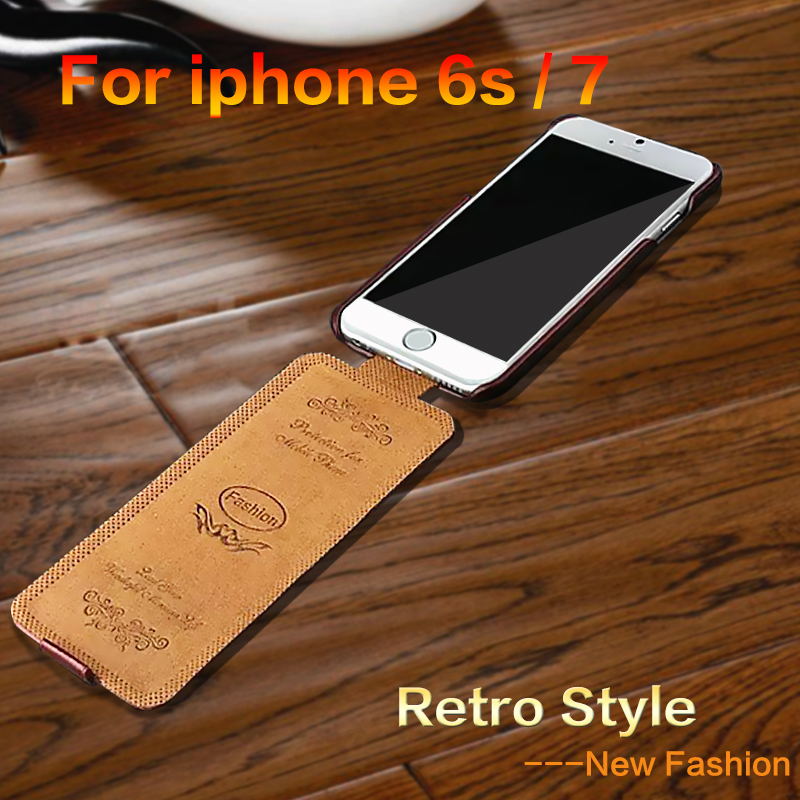 For iphone 5 5s se case Luxury Flip Vertical Fashion PU Leather Case for iPhone 7 6 6S Up to Down Cases Cover for iphone7 6s