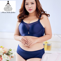 Push Up Seamless Bra Set Unlined Plus Size C D E F Cup Bra And Briefs