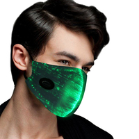 Saful Glitter Mask with 7 Color Luminous Light Up Face Mask for Men Women Party Christmas Halloween Costume Mask