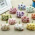 432pcs/lot 3.5cm Artificial Silk Daisy Flower W/wired Stem For DIY Scrapbooking Wreath Garland Hair Bridal Headdress Accessory