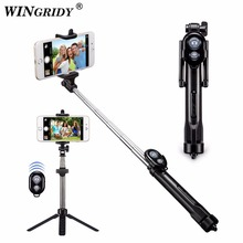 New 3 in 1 Wireless Bluetooth Selfie Stick + Mini Selfie Tripod with Re