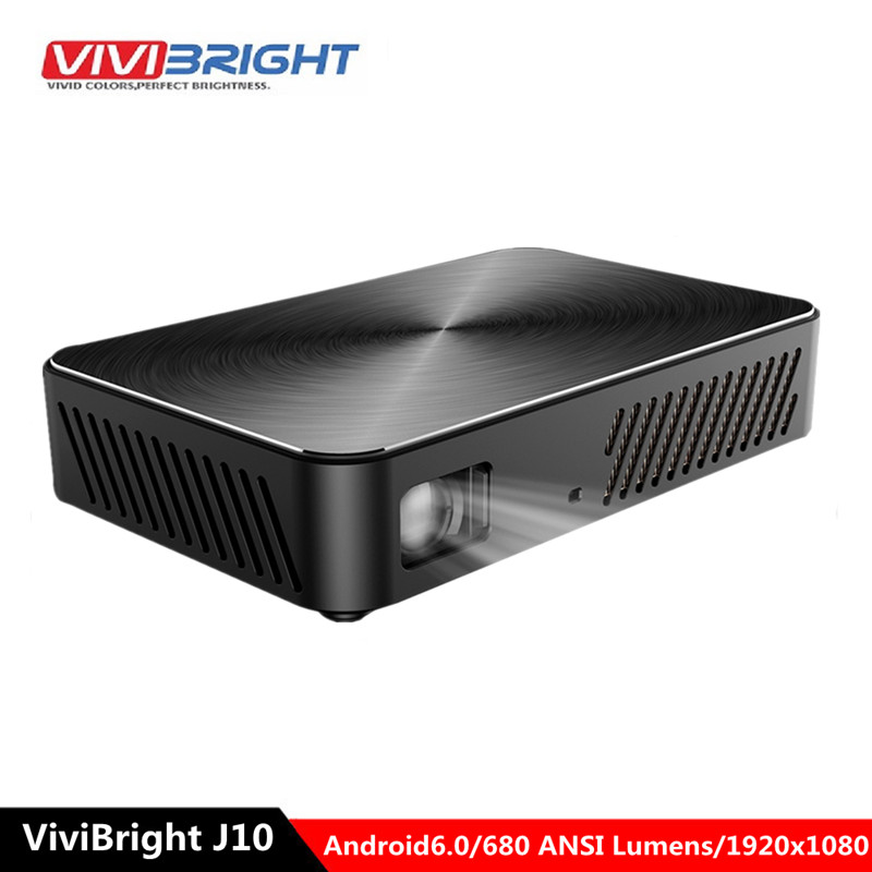 VIVIBRIGHT J10 680 ANSI Mini DLP projecteur Android 6.0 3000: 1 1920x1080 P Bluetooth 4.0 projecteur Home cinéma