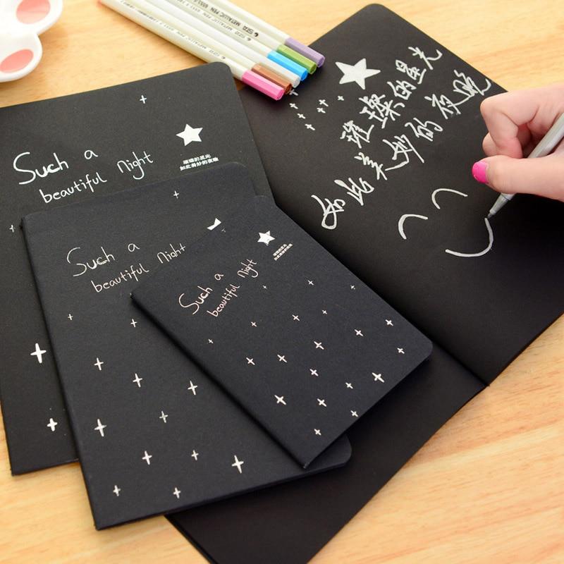 Notebook Sketchbook Diary Ritning Måleri Graffiti Svartpapper - Block och anteckningsböcker - Foto 2