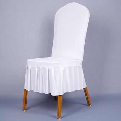 주름 치마 탄성 짧은 디자인 의자 커버 연회 의자 커버 의자 커버