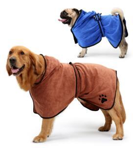 Dog Bathrobe Pet Dog Bath Towel For Small Medium Large Dogs Microfiber Super Absorbent Pet Drying Towel Grooming Pet Product