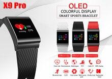 Himm X9 Pro Цвет OLED умный Браслет Приборы для измерения артериального давления кислорода сердечного ритма Мониторы